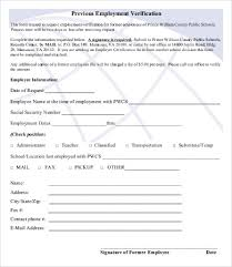 Free Employment Verification Form Template Employment Verification Form 100 Free Word PDF Documents Download 10
