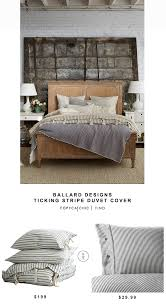 ballard designs ticking stripe duvet cover