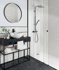 white square tile bathroom. Brilliant White Metro White Tile On Square Bathroom O