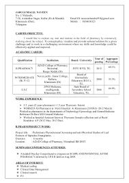 B Pharm Resume Freshers Professional User Manual Ebooks