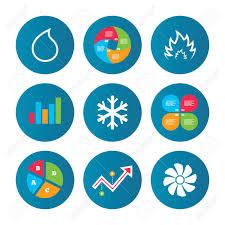 Business Pie Chart Growth Curve Presentation Buttons Hvac