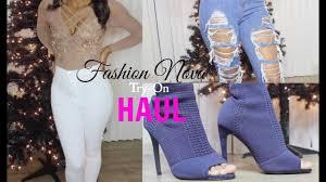 Fashion Nova Shoe Size Chart Fashion Nova Try On Haul Sizing Info Clothing Shoes