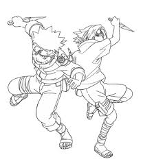 Coloring Pages Anime Naruto And Sasuke Cartoon Coloring Pages Of