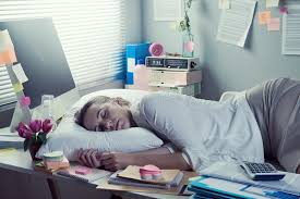 office sleeping pillow. Download Woman Sleeping In Office Overnight Stock Image - Of Employee, Closed: 46753345 Pillow