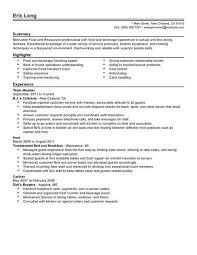 Impactful Professional Food Restaurant Resume Examples. Resume