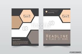 Front And Back Cover Of A Modern Business Brochure Layout Or Flyer