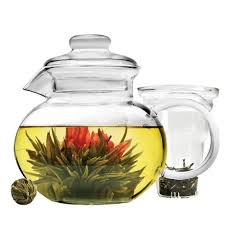primula 40 oz blossom glass teapot image 1 of 4