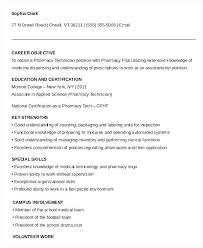 Objective For Pharmacy Resume Pharmacy Technician Resume Sample Sample Professional Resume