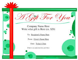 Word Templates For Gift Certificates 34 Gift Certificate Template Free Download