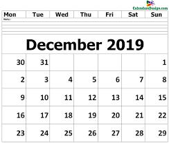 Blank Templates Free Editable December 2019 Calendar Blank Template Free 2019