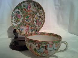Tea Cup Display Stand Famille Rose Medallion Tea Cup And Saucer With Display Stand 55