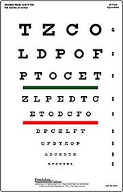 Where Can I Buy An Eye Chart Snellen Eye Chart Red And Green Bar Visual Acuity Test Buy
