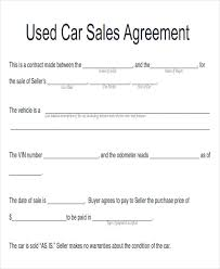 Automobile Sales Agreement Sample Automobile Sales Contracts 9 Examples In Word Pdf
