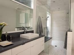 modern bathroom white. Fine Bathroom Bathroom Decoration Dark Grey Tile Contemporary Bathroom White  Modern White Light Airy With I
