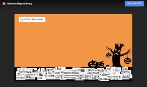 Halloween Template Halloween Magnetic Poetry With Google Drawings