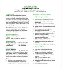 Project Manager Duties Experienced Project Manager Resume