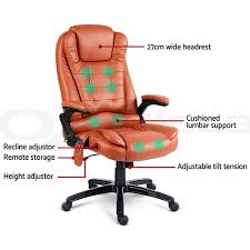 heated office chair. 8 Point PU Leather Heated Massage Executive Office Chair Amber