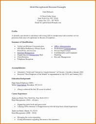 Medical Receptionist Resume Hotel Example Page Sample Resumes Design