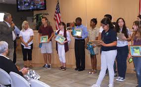 environmental writing contest coastal breeze news council honored each winning student a framed certificate photos by val simon