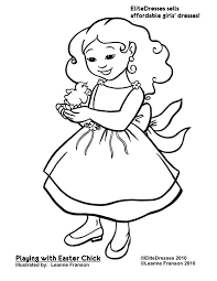 Small Picture Homely Design Little Girl Coloring Page Little Dress Colouring