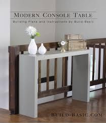 narrow sofa table. Modern Entryway Console DIY Narrow Sofa Table