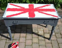 painted furniture union jack autumn vignette. I Got Asked A Lot How Painted Large Union Jack Patterned Desk Week Or So Ago So\u2026 Here I\u0027ll Show You Step By Transformed Simple Furniture Autumn Vignette