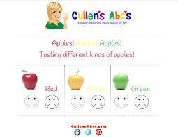 Apples Taste Test Chart Online Preschool And Childrens