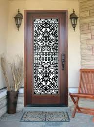 entry doors with glass and wrought iron wood front doors with glass and wrought iron front