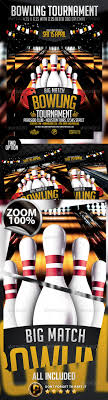 Bowling Event Flyer Bowling Flyer Graphics Designs Templates From Graphicriver