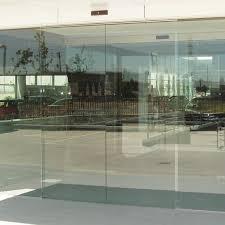 frameless sliding glass door
