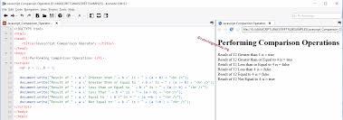 Javascript Comparison Chart Javascript Comparison Operators