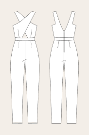Jumpsuit Pattern Awesome Named Clothing Ailakki Cross Front Jumpsuit