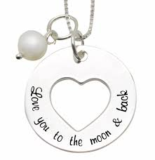 kaya jewellery silver love necklace love you to the moon