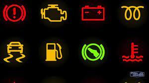dashboard warning lights explained