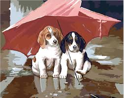 Small Picture Aliexpresscom Buy Cute cats and dogs paintings Wall pictures