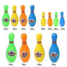 3 kích thước của Đầy Màu Sắc Bowling Bóng Pin Set Đồ Chơi cho Bé Trẻ