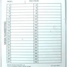 Distribution Board Schedule Template Circuit Breaker