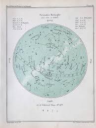 Star Chart For November Antique Astronomy Print Celestial Star Chart For November