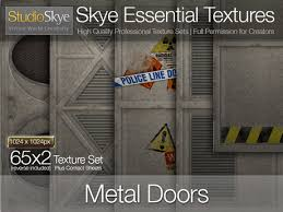 metal door texture. Metal Doors - Skye Essential Full Perms Textures Door Texture