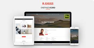 One Page Website Template Magnificent R Giggs Vcard Portfolio CV Resume Muse Template By DEVThemes