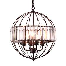 mirrea vintage metal cage crystal chandeliers pendant lights oil rubbed dark bronze 4 lights of candelabra