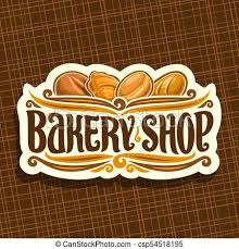Vector Logo For Bakery Shop On Signboard Original Brush Typeface