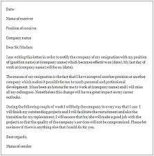 Formal Resignation Letter Example Formal Resignation Letter Cycling Studio