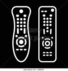 remote control drawing. tv remote control - stock image drawing