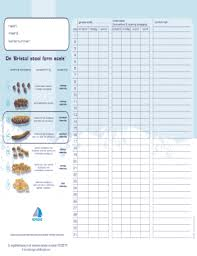 Stool Movement Chart Bowel Charting Form Fill Online Printable Fillable