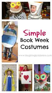 simple book week costumes for kids to wear to