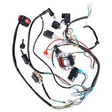 atv harness complete electrics wiring harness wire loom atv quad 50 70 90 110 125cc stator