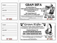 Modelos De Tickets De Rifa Para Imprimir Imagui Heladerita Con