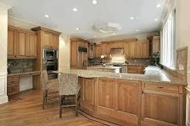 light oak kitchen cabinets small glass breakfast bar buffalo head wall statue lemon accent white pine