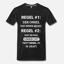 Onkel Geschenk Spaß Witzig Spruch Familie Regel Männer Premium T